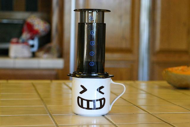 Aeropress and mug