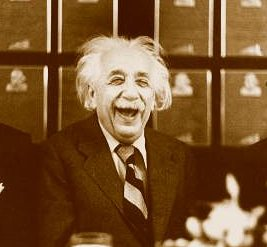 A happy scientist.