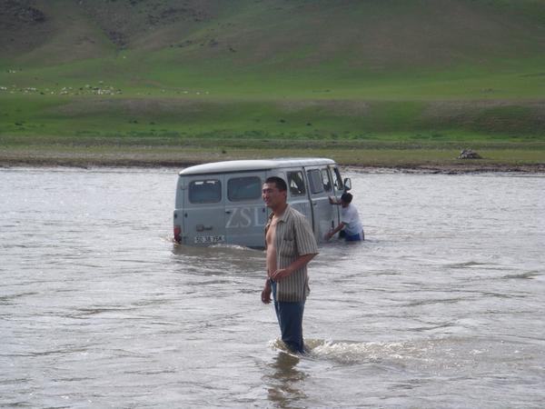 Kate Jones Getting the @ZSLScience truck stuck in a river in the middle of Mongolia whilst searching for bats #fieldworkfail